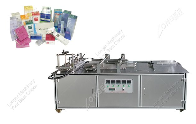 Semi Automatic Medicine Box Cellophane Pa...