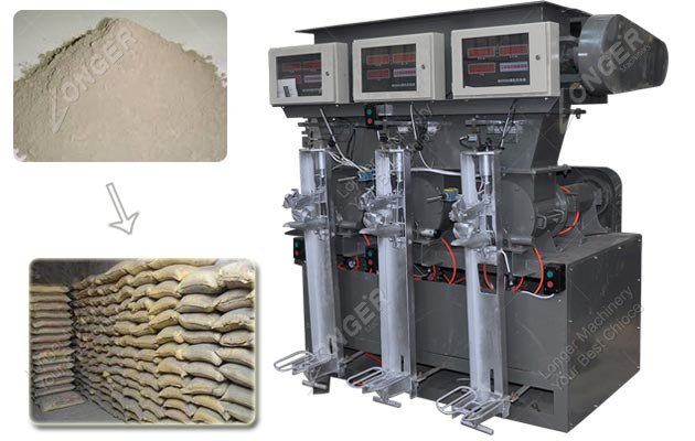 Three Mouth Cement Powder Packing Machine Price