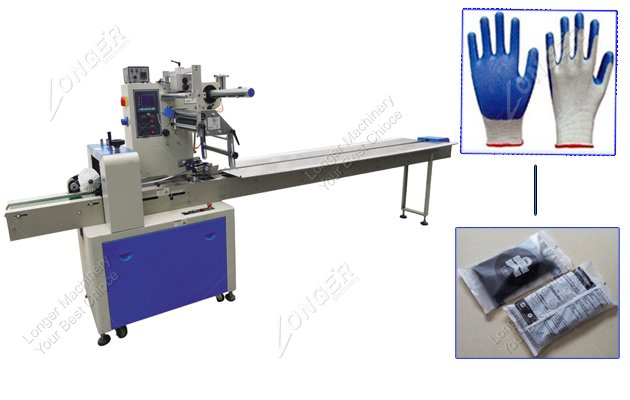 Small Automatic Exam Gloves Flow Packing Machine In Hot Selling