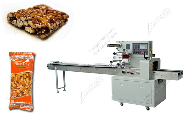 Automatic Pillow Type Peanut Brittle Candy Packing Machine