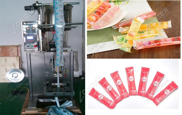 Jelly stick filling machine