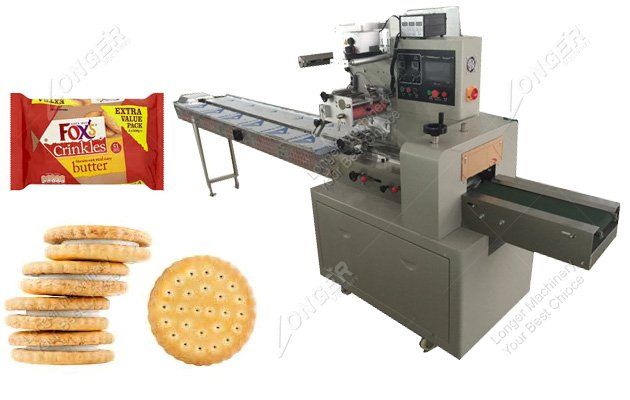 Automatic Sandwich Biscuit Packing Machin...