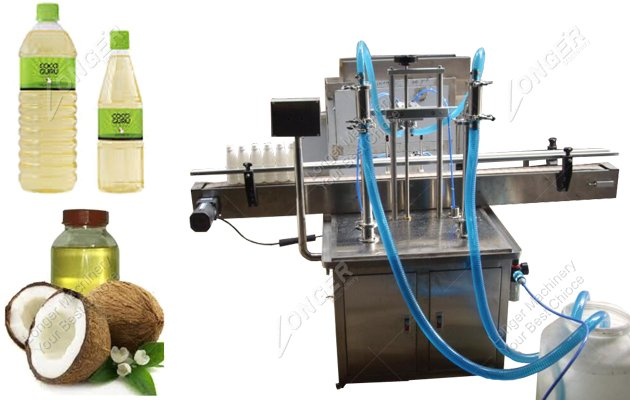Automatic Coconut Oil Bottle Packing And Filling Machine With 2 Heads