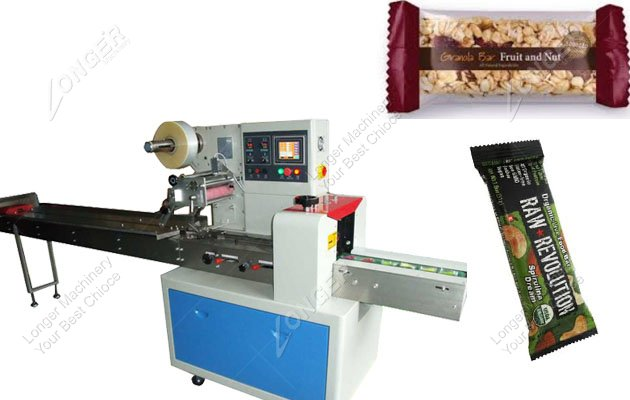 Price Of Horizontal Flow Wrapping Machine For Granola Bar