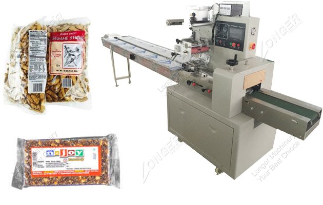 Automatic Flow Wrapping Machine Manufacturer For Sesame Candy