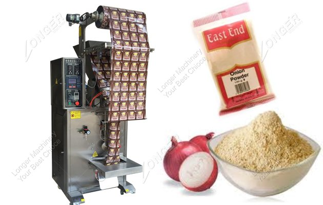 Vertical Form Fill Seal Powder Packing Machine For Onion Powder