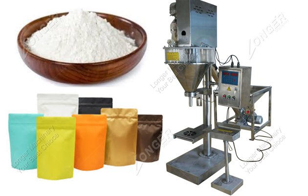Manual Stand Up Pouch Filling And Sealing Machine For Starch