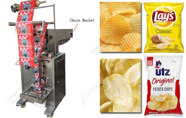 Chain Bucket Semi Automatic Potato Chips Packing Machine Manufacturers