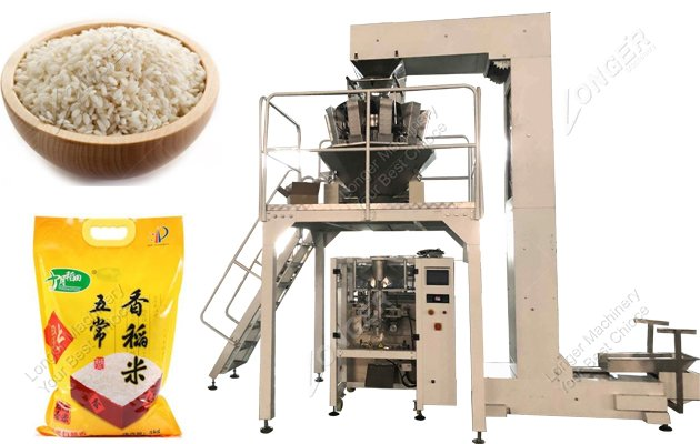 Automatic Rice Weighing And Packaging Mac...