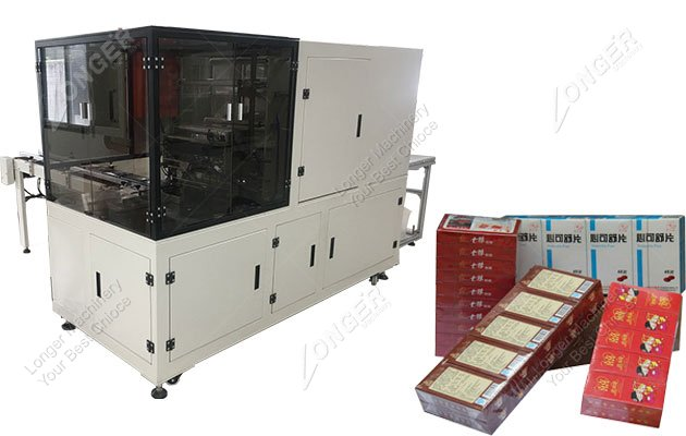 Cellophane Wrapping Machine for 10 Cigarette Boxes|Large Commodity Packaging Machine