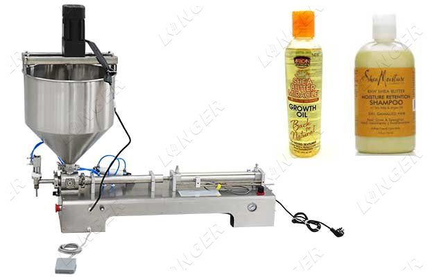 benchtop piston filling machine for viscous liquids