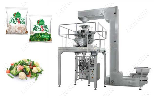 Automatic Frozen Vegetable Weighing and Packing Machine