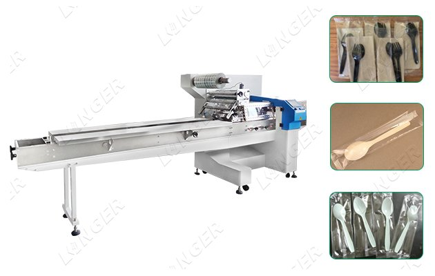 Disposable Plastic Ice Cream Spoon Packing Machine
