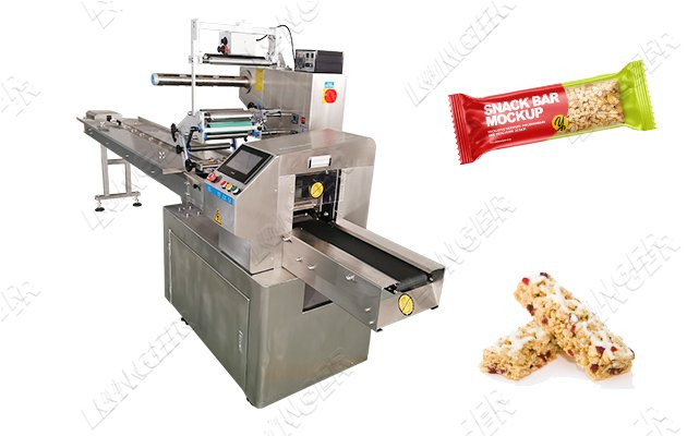 Servo Motor Snack Cereal Bar Packaging Machine Manufacturer